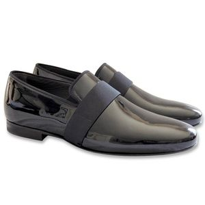 NEW LANVIN Patent Leather Men's Evening Slippers